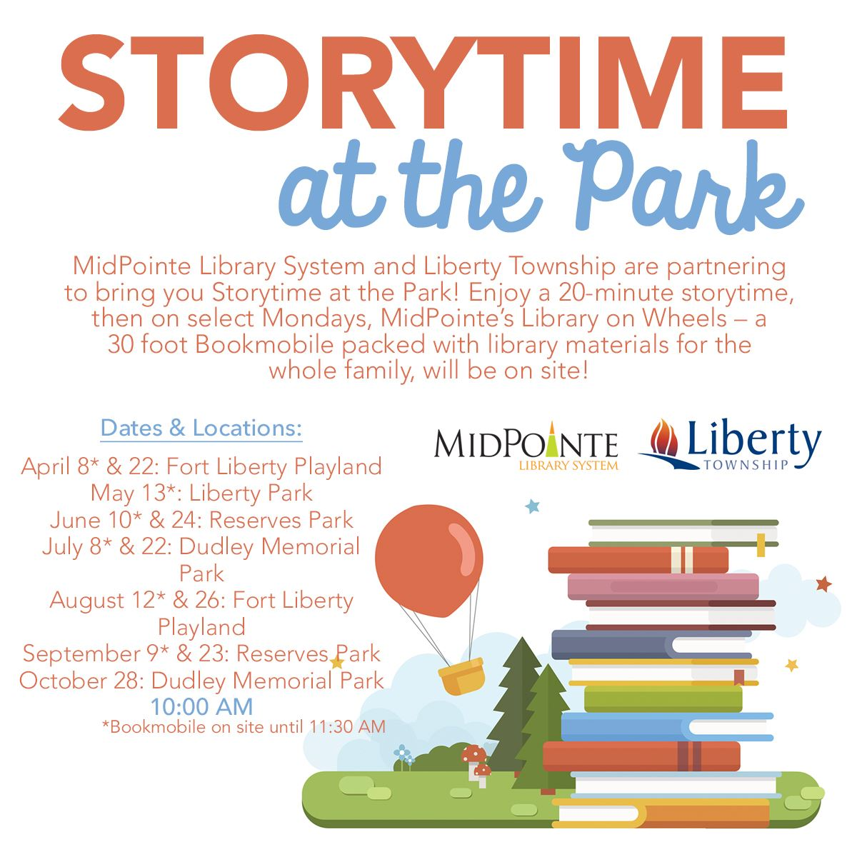 2019 Storytime at the Park