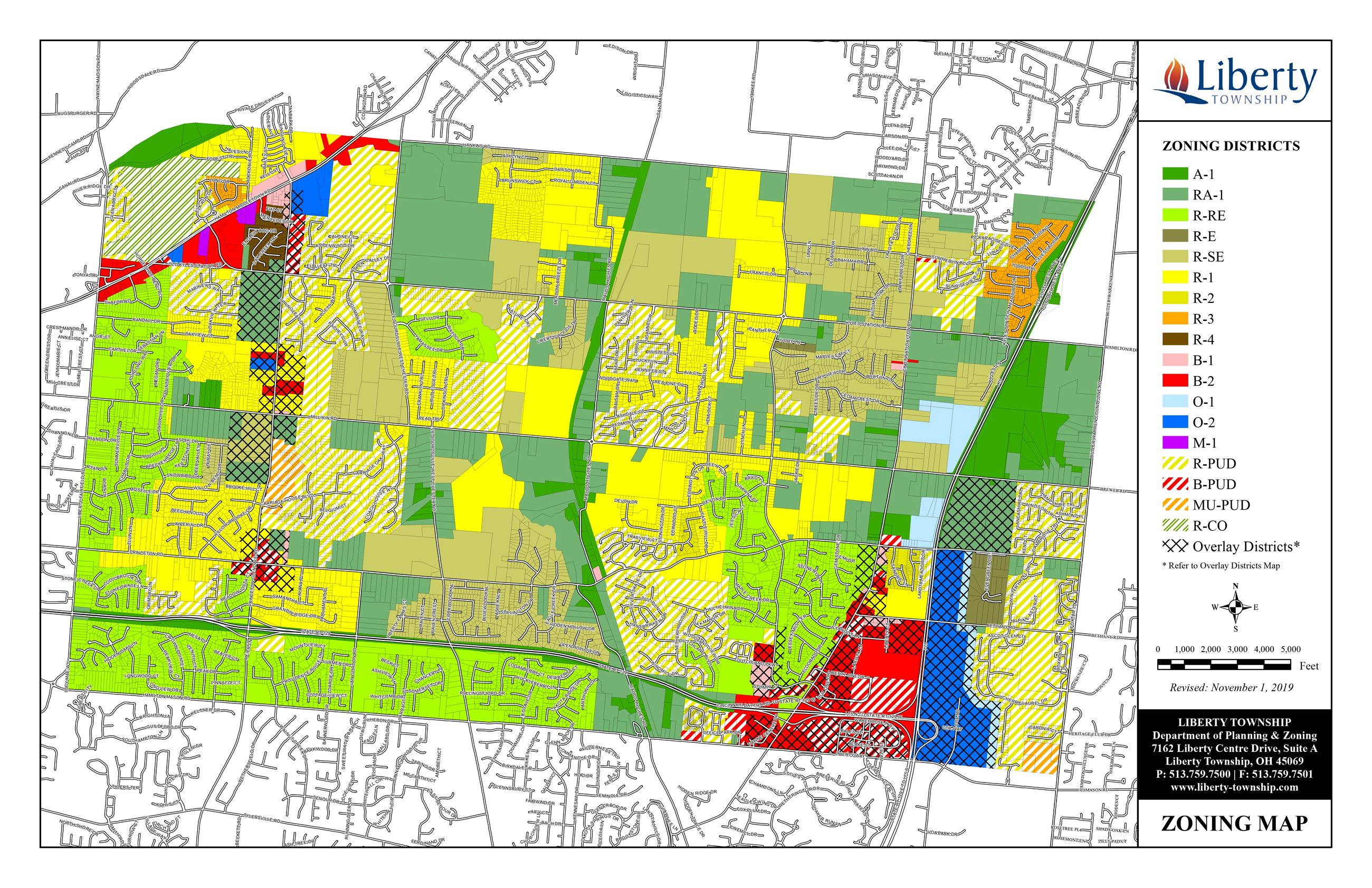 Liberty Twp Zoning Map 11.1.2019
