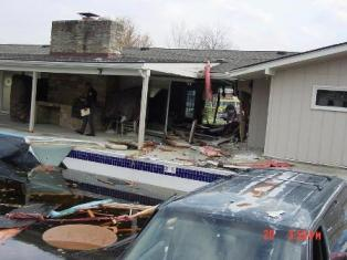 Community Clubhouse - Vehicle drove Into a partially empty pool