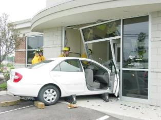 MVA - Vehicle Into a Bank